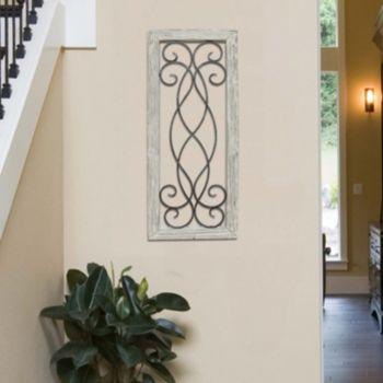 Stratton Home Decor Farmhouse Metal & Wood Framed Wall Art