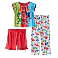 Toddler Girl PJ Masks Owlette, Catboy & Gekko 3-pc. Pajama Set