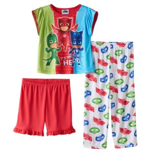Toddler Girl PJ Masks Owlette, Catboy & Gekko 3-pc. Pajama Set