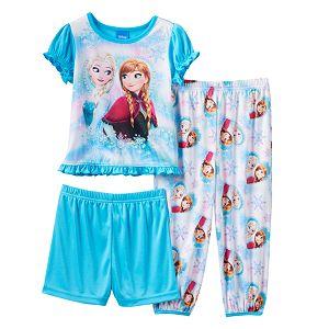 Disney's Frozen Elsa & Anna Toddler Girl Ruffle 3-pc. Pajama Set