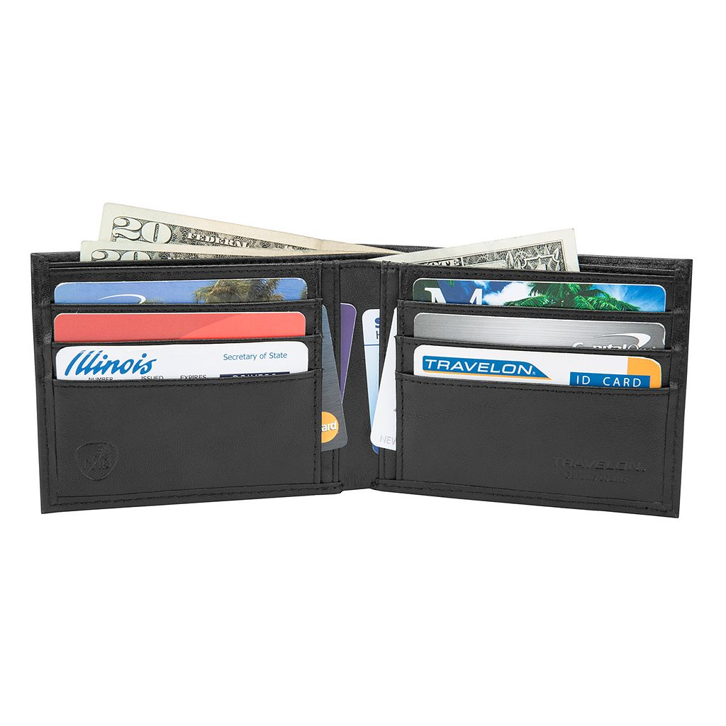 Travelon Leather Safe ID Classic Billfold Wallet