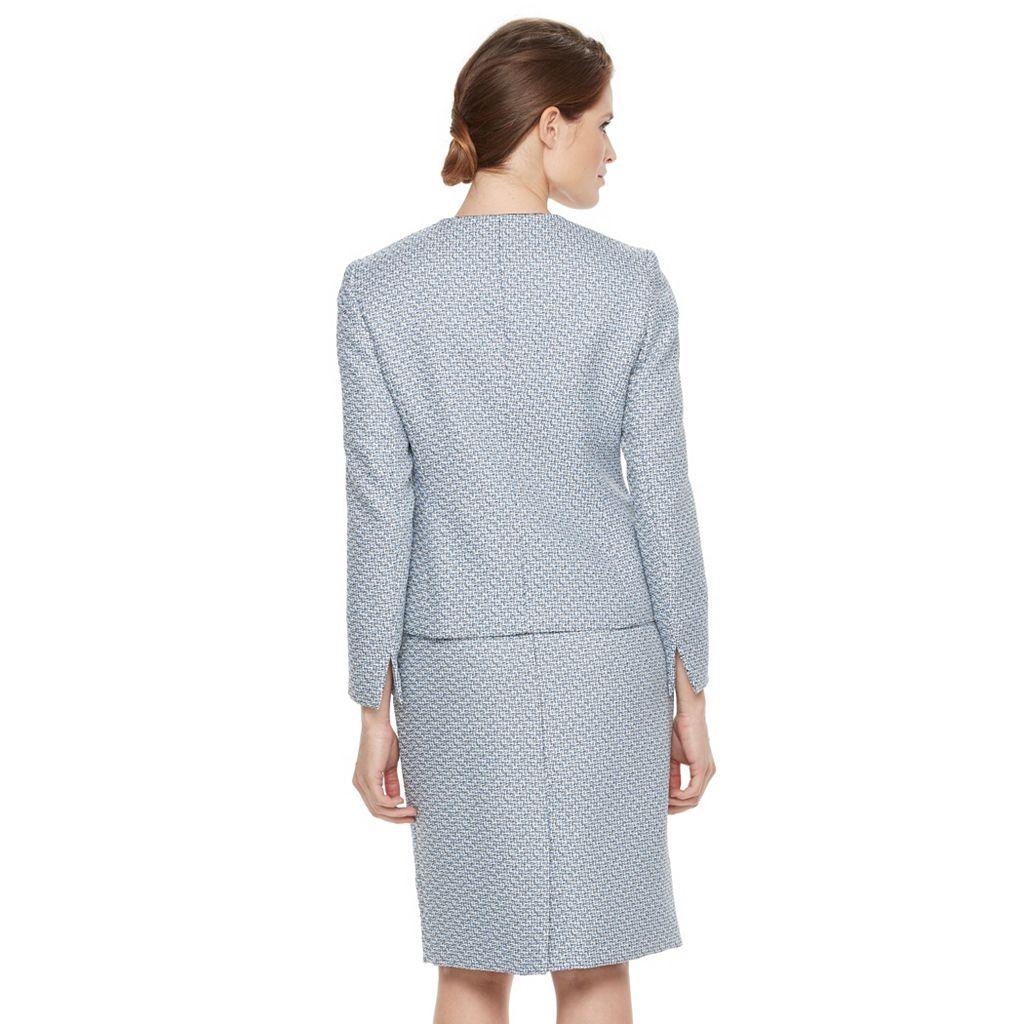 Women's Le Suit Tweed Suit Jacket & Skirt Set