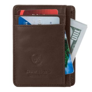 Travelon Leather Safe ID Cash & Card Sleeve Wallet