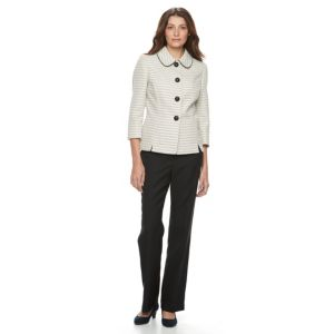 Le SuitTweed 4 Button Jacket Pant Suit