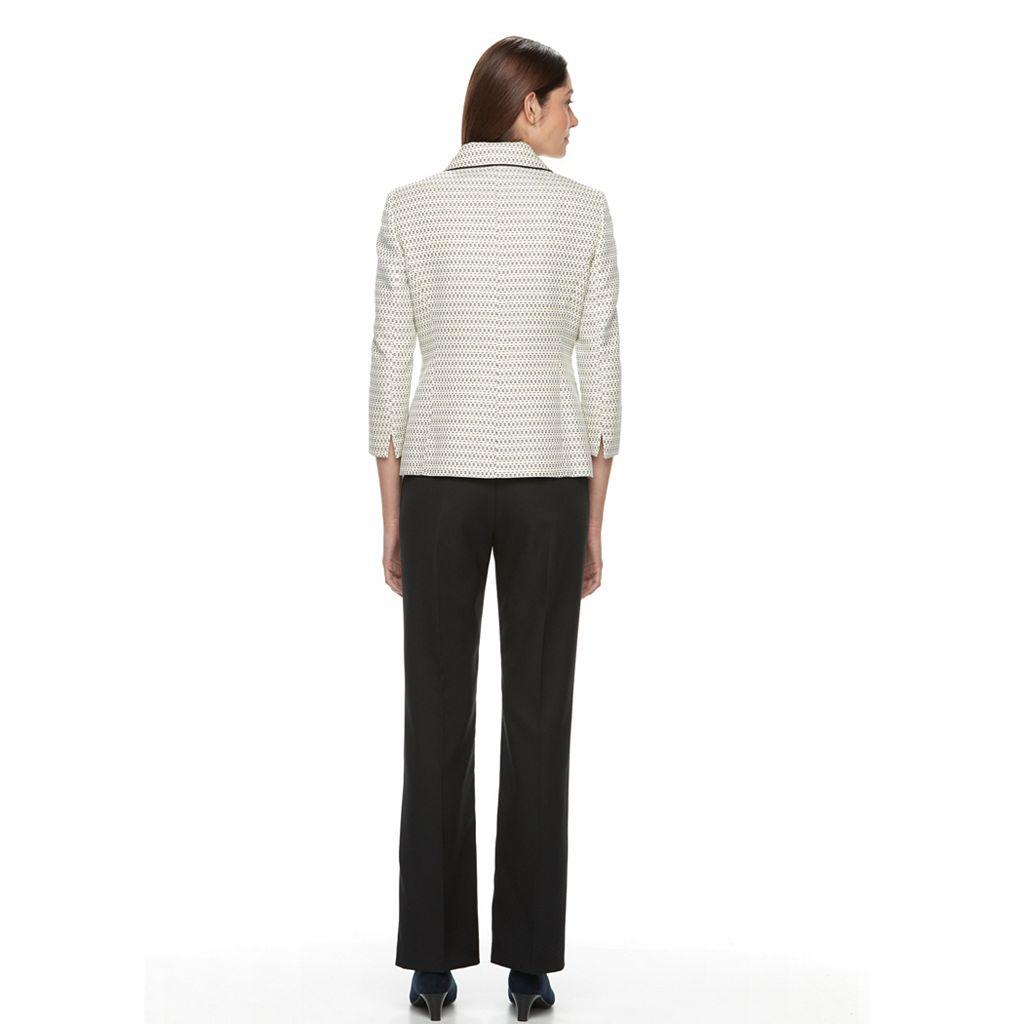 Le SuitTweed 4 Button Jacket Pant Suit
