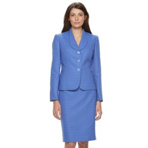 Le Suit Texture 3 Bottom Jacket Skirt Suit