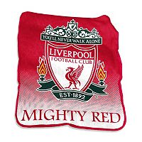 Logo Brand Liverpool FC Raschel Throw Blanket