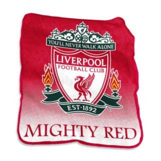 Logo Brand Liverpool FC Raschel Throw Blanket