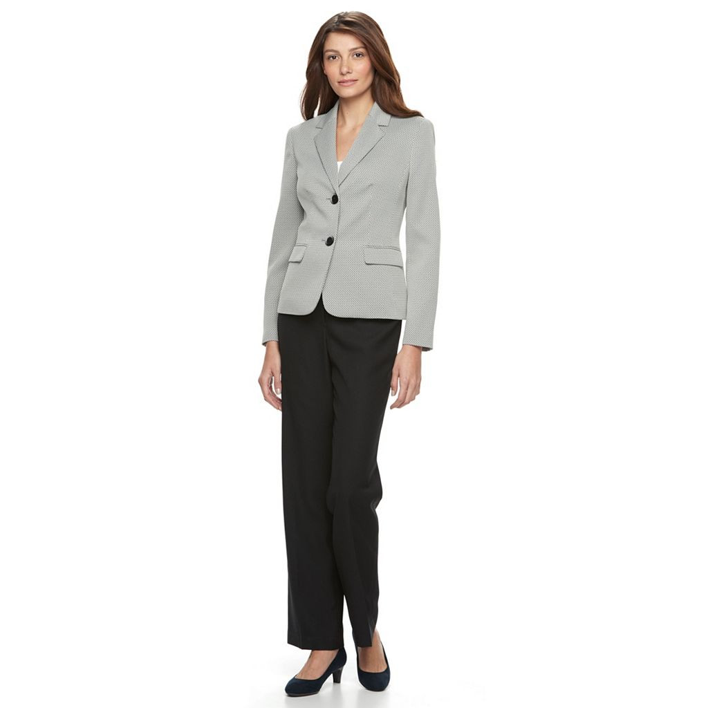 Le Suit Novelty 2 Button Jacket Pant Suit