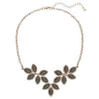 LC Lauren Conrad Gray Marquise Vine Necklace