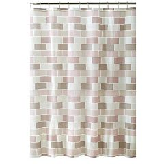 Bath Bliss Tile Shower Curtain Set