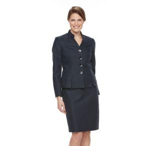 Women's Le Suit Pique Suit Jacket & Skirt Set