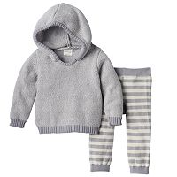 Baby Girl Cuddl Duds Hooded Sweater & Pants Set
