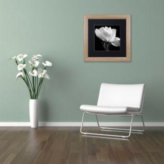 Trademark Fine Art Gardenia Light Finish Framed Wall Art