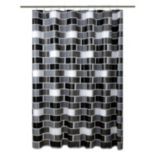 Bath Bliss Brick Shower Curtain Set