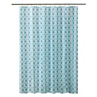 Bath Bliss Hexagon Shower Curtain Set