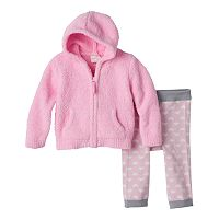 Baby Girl Cuddl Duds Hoodie & Heart Pants Set
