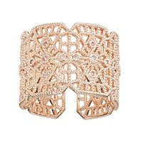 LC Lauren Conrad Wide Filigree Open Ring
