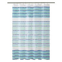 Bath Bliss Dot & Stripe Shower Curtain
