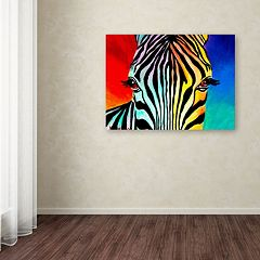 Trademark Fine Art Zebra Canvas Wall Art