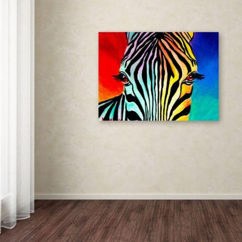 Trademark Fine Art Zebra Canvas Wall Art