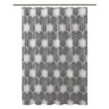 Bath Bliss Hexagon Shower Curtain