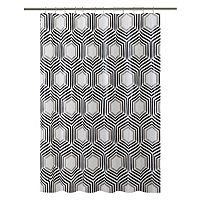 Bath Bliss Hexagon Shower Curtain