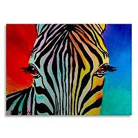 Trademark Fine Art Zebra Large Metal Wall Art