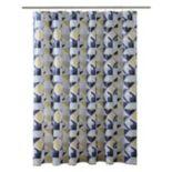 Bath Bliss Geometric Shower Curtain
