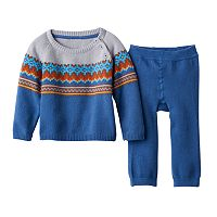 Baby Boy Cuddl Duds Fairisle Sweater & Pants Set