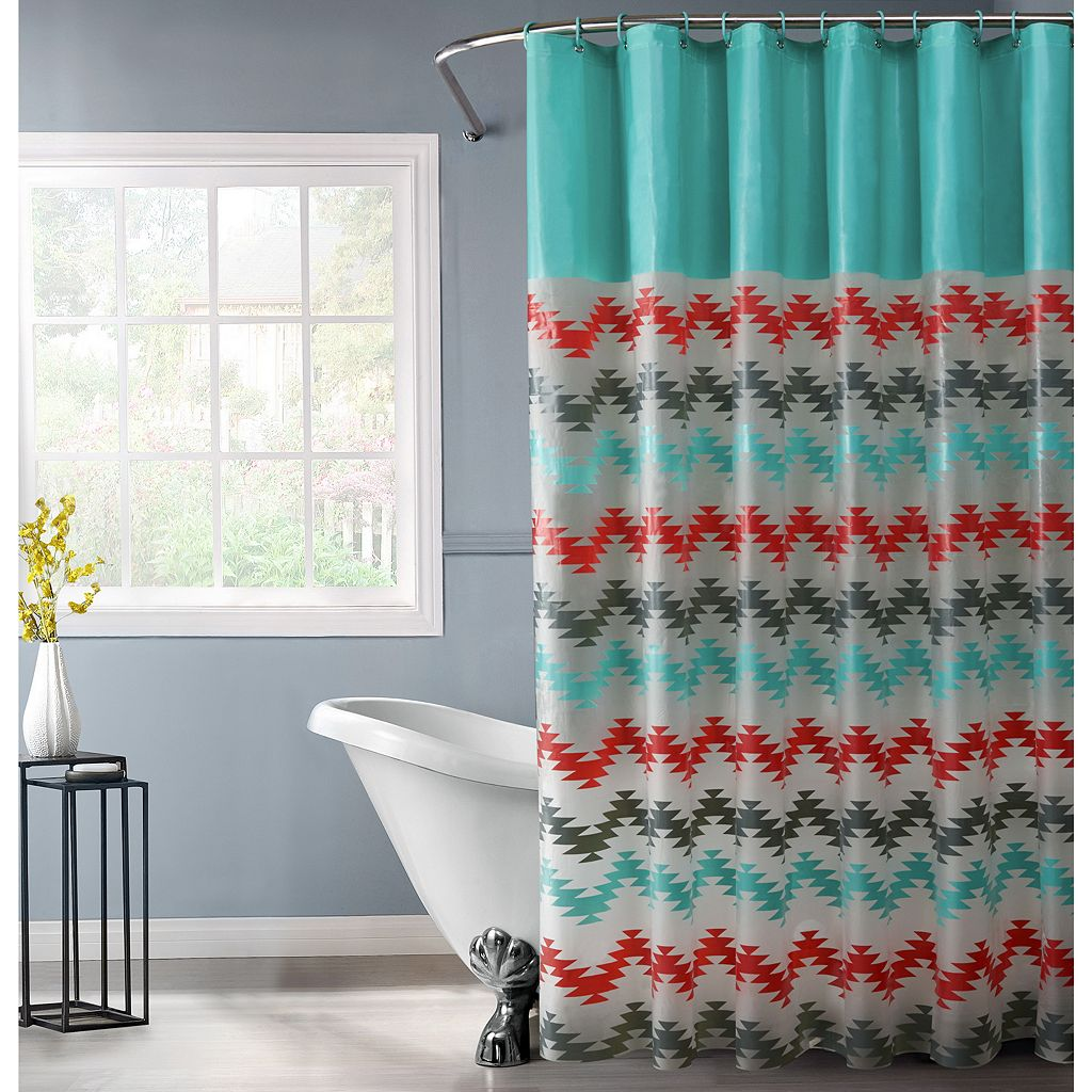 Bath Bliss Chevron Shower Curtain