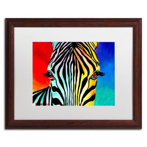 Trademark Fine Art Zebra Framed Wall Art