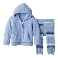 Baby Boy Cuddl Duds Hoodie & Striped Pants Set