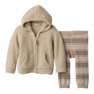 Baby Boy Cuddl Duds Hoodie & Striped Pants Set