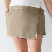 Plus Size SONOMA Goods for Life™ Faux-Wrap Twill Shorts