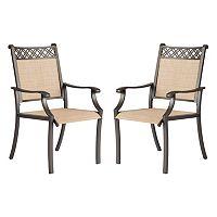 SONOMA Goods for Life™ Coronado Decorative Back Outdoor Arm Chair 2 pc Set