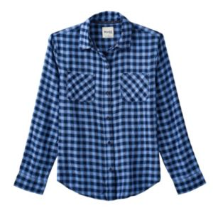 Girls 7-16 & Plus Size Mudd® Side-Split Flannel Button-Down Shirt