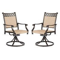 SONOMA Goods for Life™ Coronado Outdoor Decorative Back Swivel Arm Chair 2 pc Set