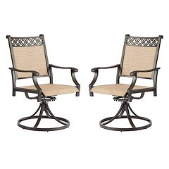 SONOMA Goods for Life™ Coronado Outdoor Decorative Back Swivel Arm Chair 2-piece Set