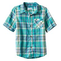 Boys 4-7x SONOMA Goods for Life™ Plaid Button Down Short Sleeve Shirt
