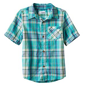 Boys 4-7x SONOMA Goods for Life™ Plaid Button Down Short Sleeve Shirt