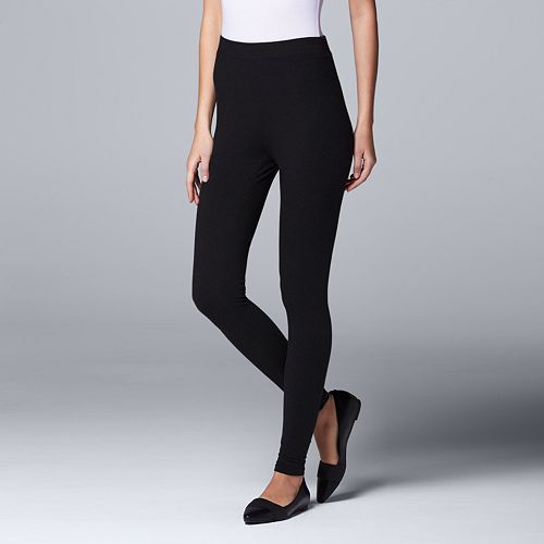 50% price big discount on wholesale Simply Vera Vera Wang High Waist Cotton Leggings