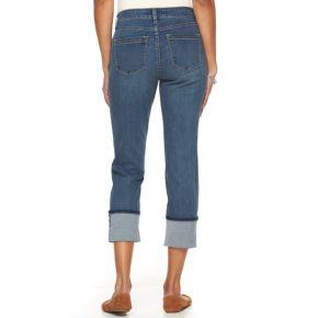 Petite Croft & Barrow® Cuffed Crop Jeans
