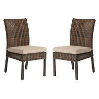 SONOMA Goods for Life™ Brampton Outdoor Armless Dining Chair 2-piece Set