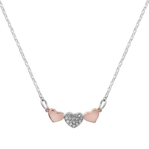 Lc Lauren Conrad Two Tone Triple Heart Necklace by Kohl's