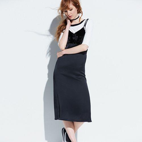 k/lab Velvet Slip Dress