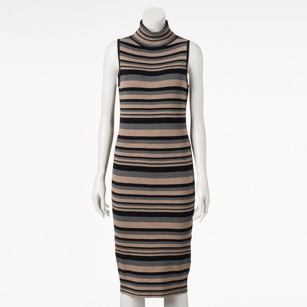 Women's Ronni Nicole Ribbed Turtleneck Sweaterdress