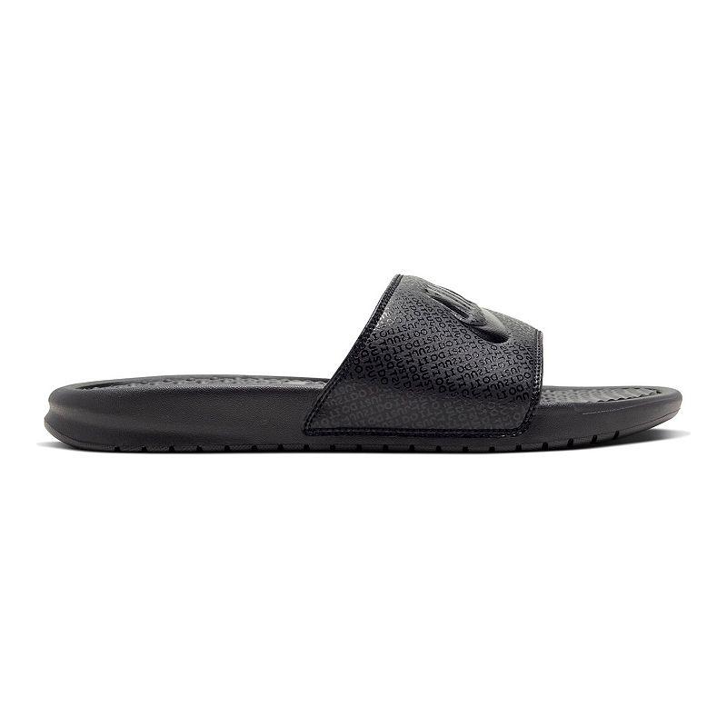 Nike Benassi JDI Men's Slide Sandals, Size: 14, Black