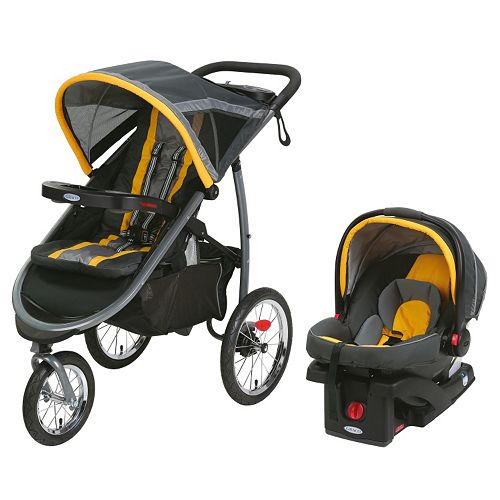 Graco FastAction Fold Jogger Click Connect Travel System Stroller