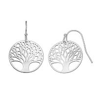 LC Lauren Conrad Openwork Tree of Life Disc Drop Earrings